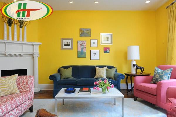 Sơn nhà màu vàng