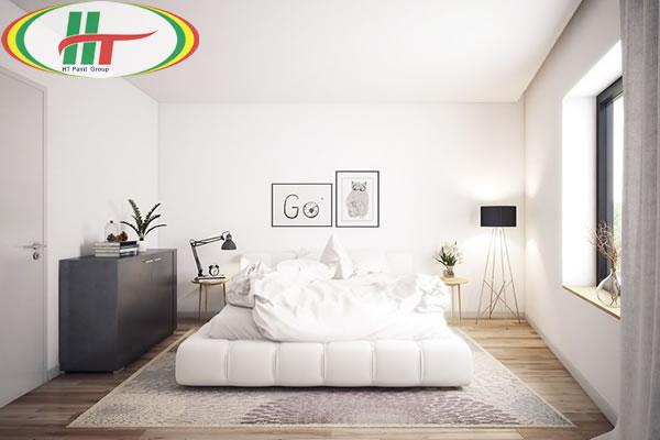 Phòng ngủ màu trắng tinh khiết