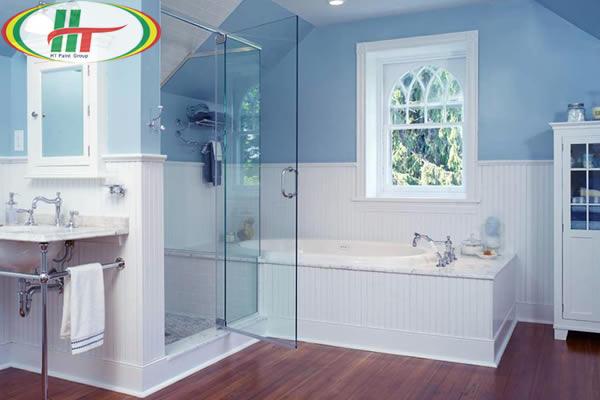 Màu sơn đẹp cho không gian phòng tắm