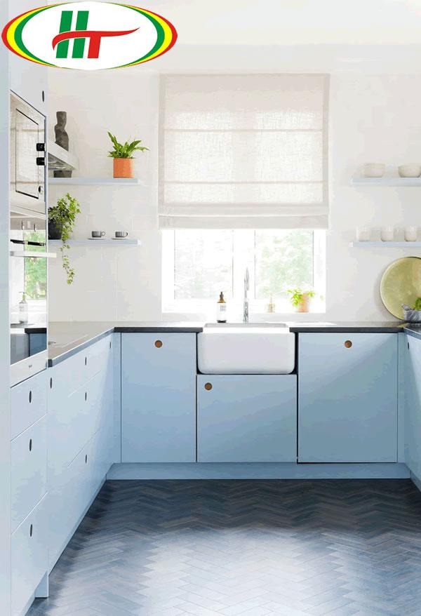 Không gian bếp với màu sắc trẻ trung