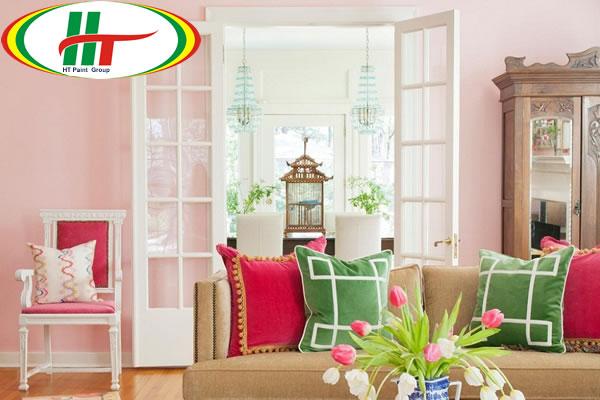Sơn nội thất màu hồng