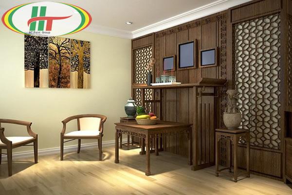 Gợi ý màu sơn nội thất phòng thờ đẹp và hợp phong thủy