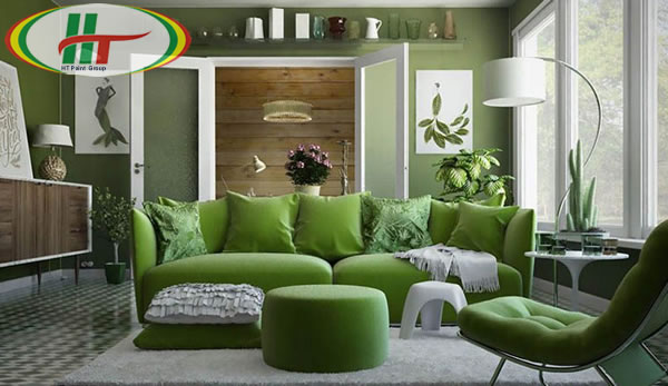 Không gian màu xanh lá