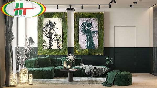 Ý tưởng trang trí nội thất màu xanh lá cây độc đáo ấn tượng