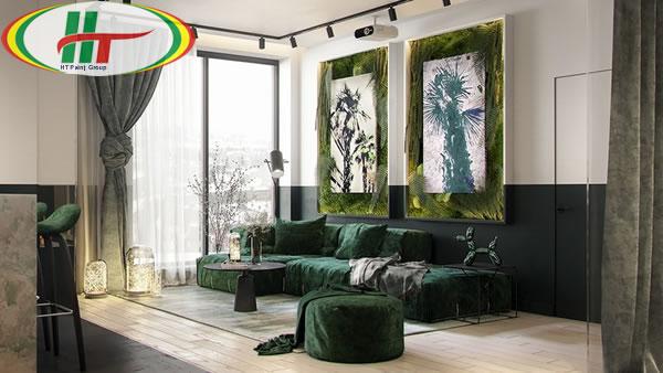 Ý tưởng trang trí nội thất màu xanh lá cây độc đáo ấn tượng-1