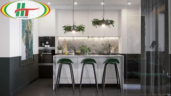 Ý tưởng trang trí nội thất màu xanh lá cây độc đáo ấn tượng-2