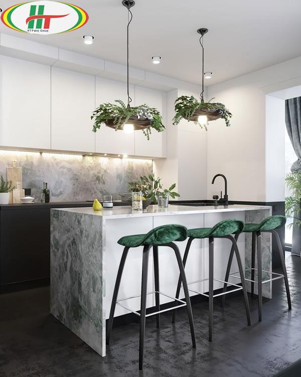 Ý tưởng trang trí nội thất màu xanh lá cây độc đáo ấn tượng-3