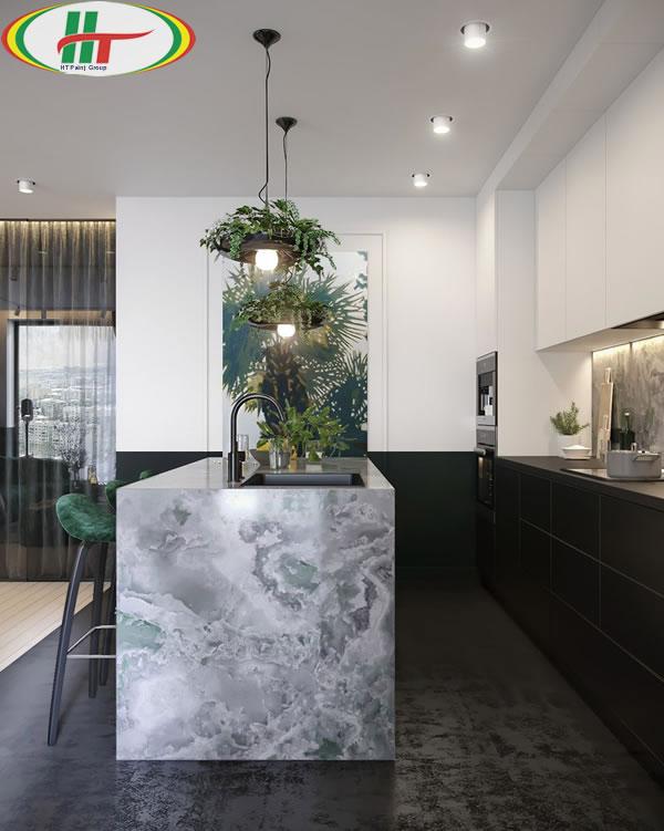 Ý tưởng trang trí nội thất màu xanh lá cây độc đáo ấn tượng-4