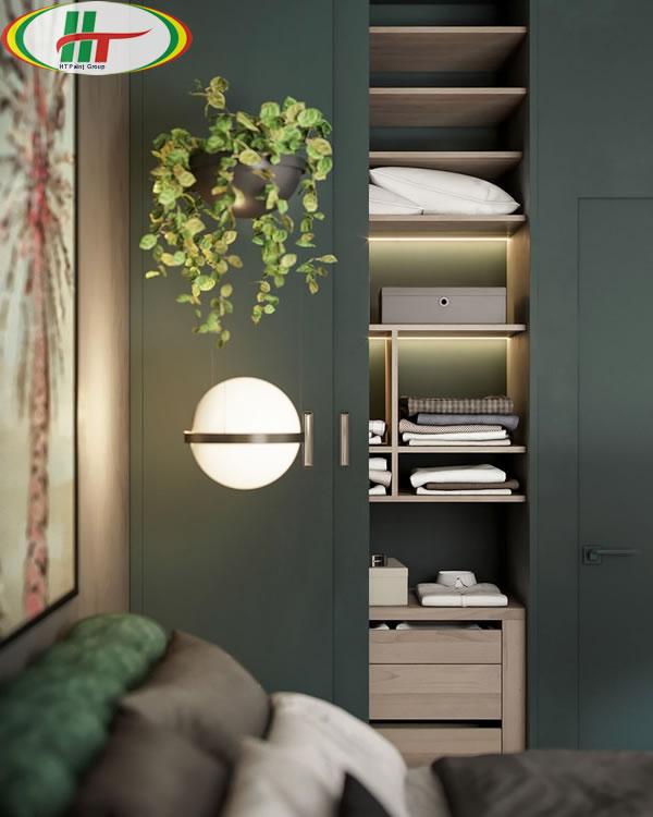 Ý tưởng trang trí nội thất màu xanh lá cây độc đáo ấn tượng-7