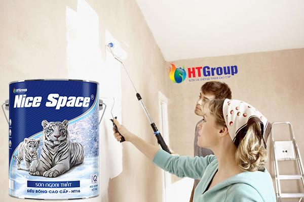 Thi công sơn lại nhà cũ