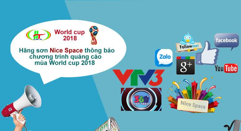 Thông báo chương trình quảng cáo mùa World cup 2018