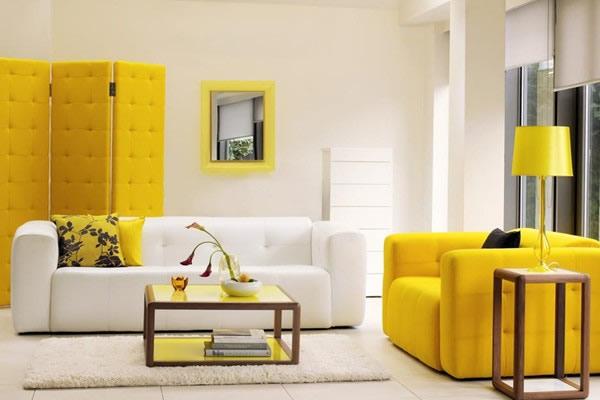 Chọn màu sơn nội thất phòng khách cho gia chủ mệnh Thổ