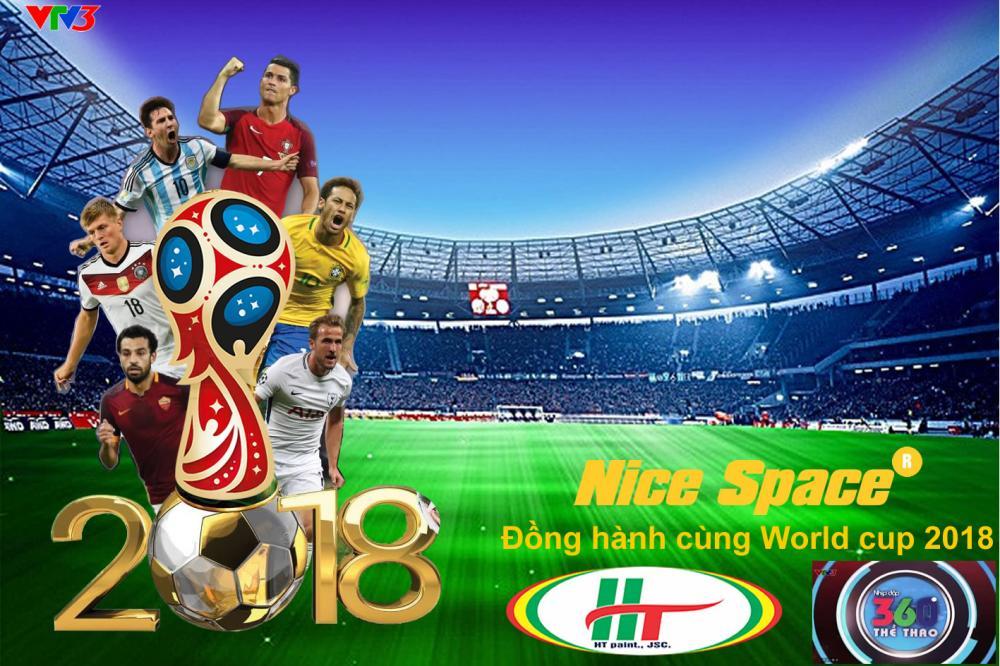Hãng sơn Nice Space - Đồng hành cùng World Cup 2018