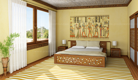 Phòng ngủ mệnh thổ sơn màu gì?