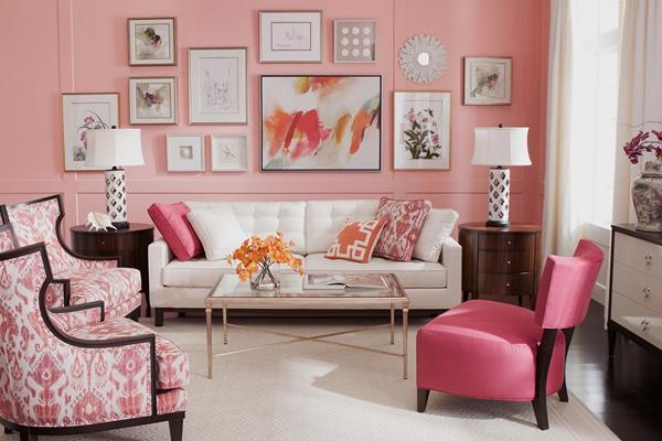 Ý tưởng trang trí nội thất nhà đẹp với tông màu hồng