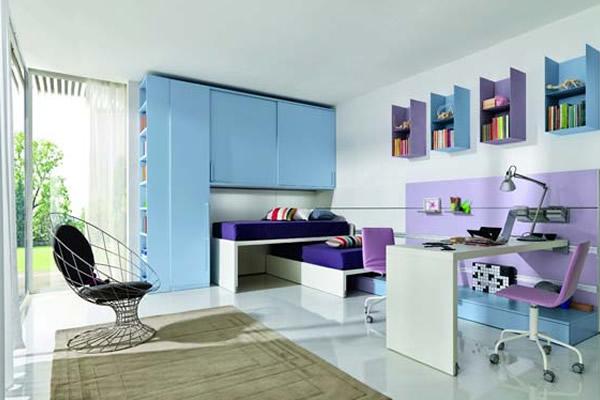 Biến hóa không gian khi kết hợp màu xanh với các gam màu khác
