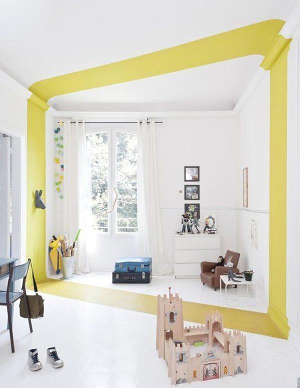 """Ý tưởng sơn tường kiểu """"đánh dấu chủ quyền"""" và Color Block đa sắc"""