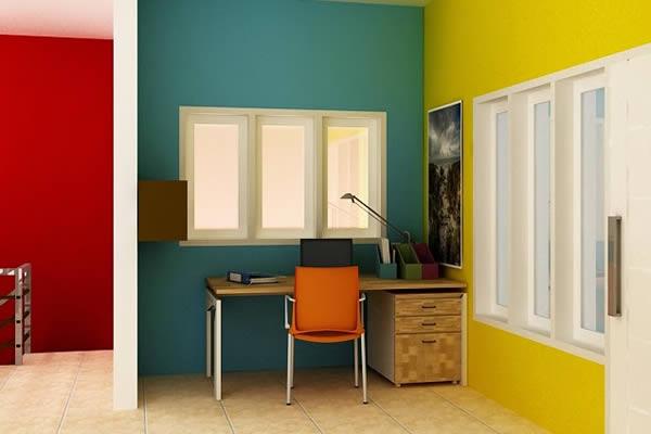 Ý tưởng phối màu tương phản mang lại không gian nhà độc đáo ấn tượng