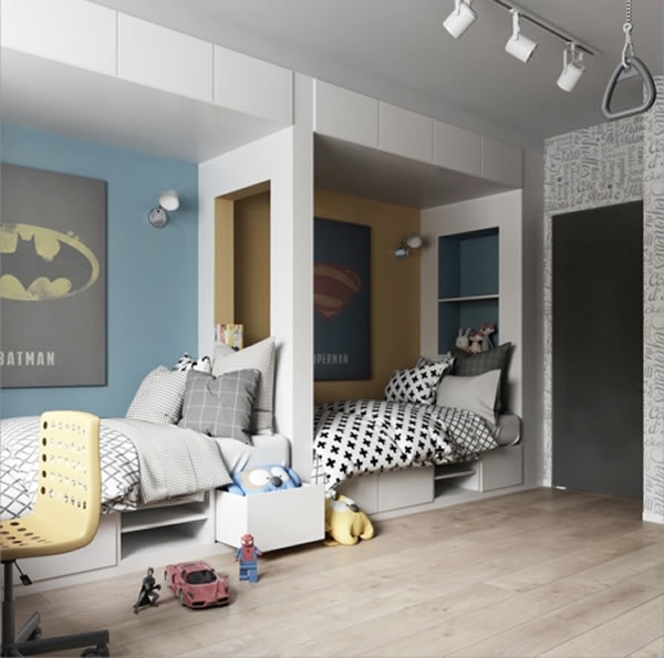 Gợi ý trang trí nội thất cho không gian phòng bé độc đáo thú vị