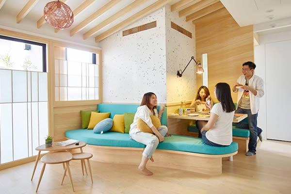 Ý tưởng trang trí nội thất căn hộ theo phong cách Nhật Bản đầy sáng tạo