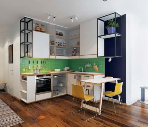 Gợi ý thiết kế phòng bếp nhỏ đầy đủ tiện nghi