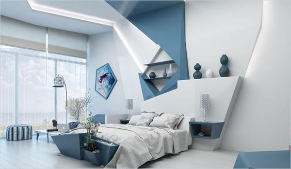Phòng ngủ hút ánh nhìn hơn với cách phối màu và trang trí sáng tạo