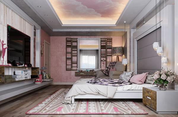 Gợi ý trang trí nội thất phòng ngủ với tone hồng nhẹ nhàng bắt mắt