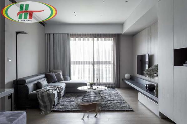 Gợi ý trang trí phòng khách với các sắc trắng khác nhau