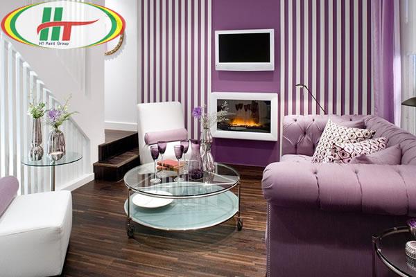Làm mới căn nhà với tông màu tím thơ mộng