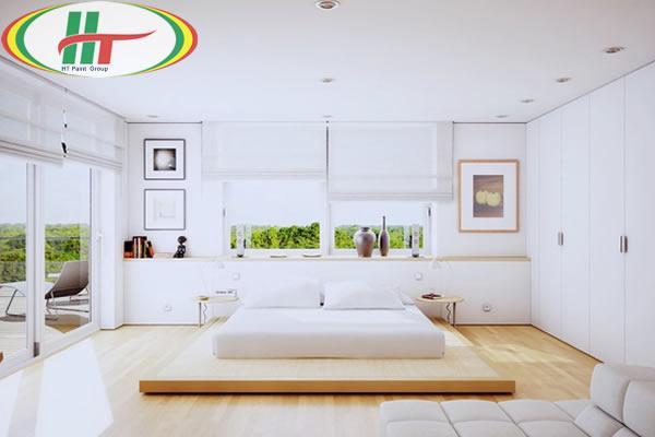 Màu sơn nội thất phòng ngủ đẹp cho người mệnh Kim