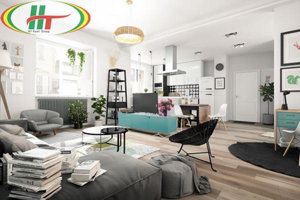 Căn hộ màu trắng tinh khôi với thiết kế đơn giản nhưng vẫn nổi bật thu hút