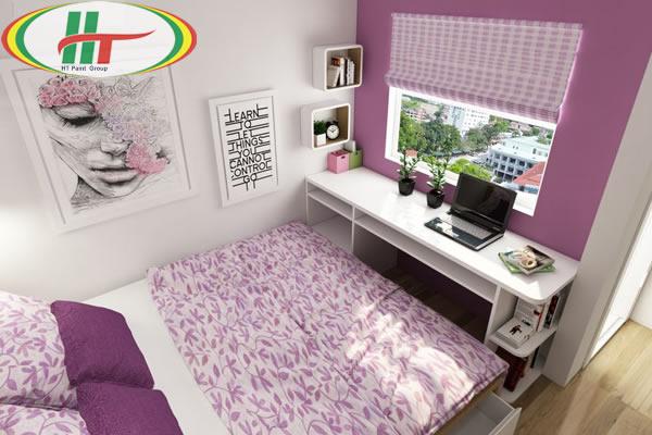 Gợi ý sơn nhà màu tím trắng hiện đại đầy mê hoặc