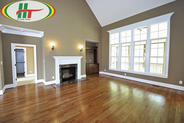 Làm thế nào để làm sạch sàn nhà khi sơn xong?