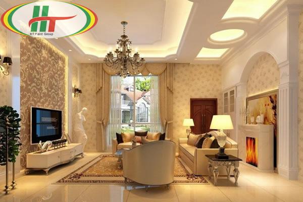 Ý tưởng sơn nội thất nhà với màu sắc theo phong cách cổ điển