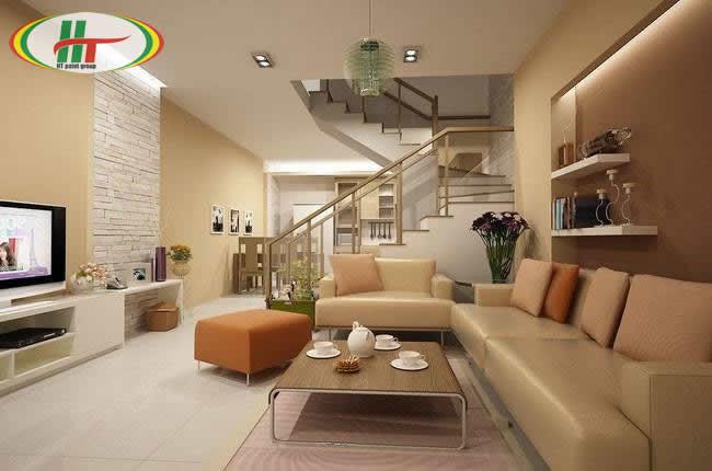 Chọn màu trung tính cho phòng khách thu hút ánh nhìn