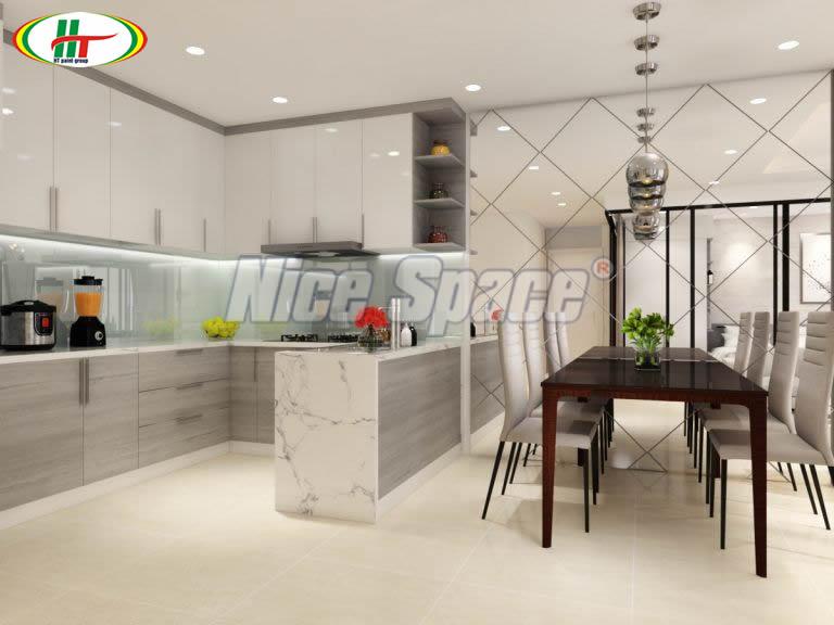 Phòng bếp hiện đại, sạch sẽ, tiện nghi