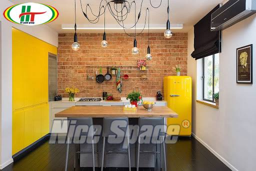 Nhà bếp đẹp với cách phối màu ấn tượng