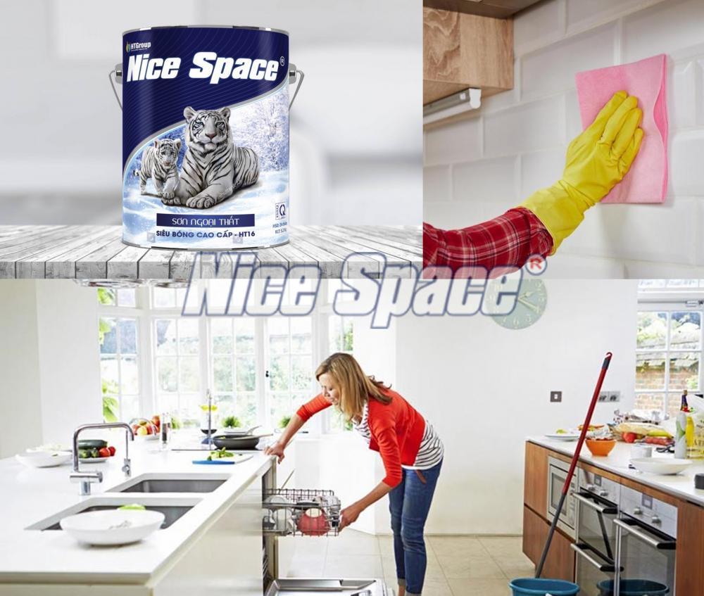 Phòng bếp nên sơn loại sơn nào màu đẹp và bền màu