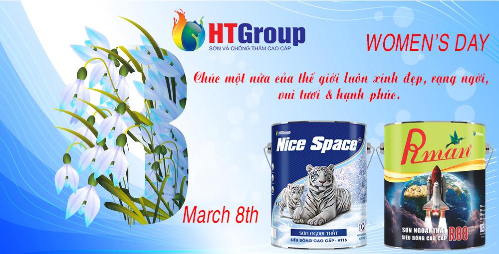 HTGroup sơn Nice Space & Rman chúc mừng ngày quốc tế phụ nữ 8-3