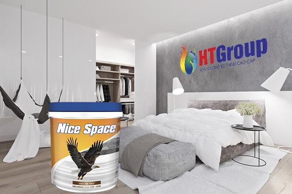 Không gian phòng ngủ màu xám kết hợp với màu trắng
