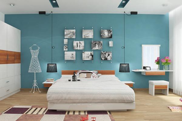 Sơn phòng ngủ màu nào hợp với người mệnh Thủy