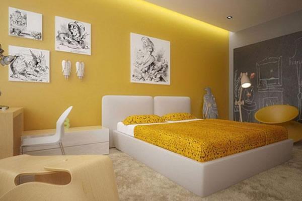 Nên sơn phòng ngủ màu nào cho người mệnh Kim?