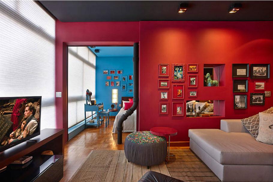 Chọn tông màu táo bạo cho nội thất