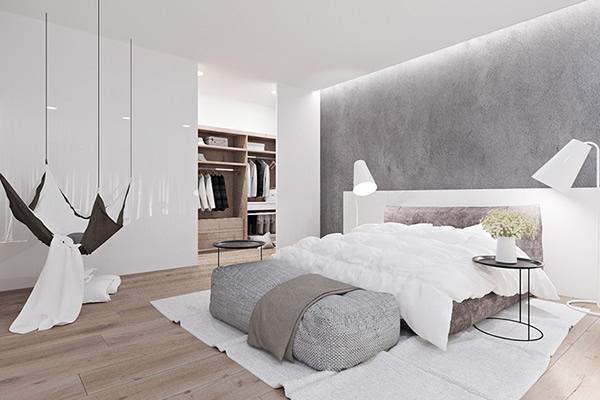 Có nên sơn phòng ngủ màu xám nhạt?