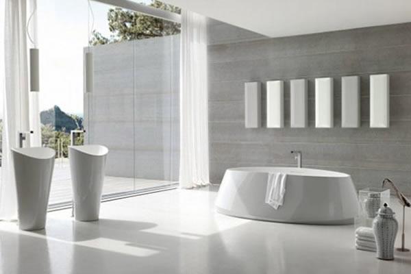 Bí quyết cho phòng tắm đơn sắc trở nên cuốn hút hơn