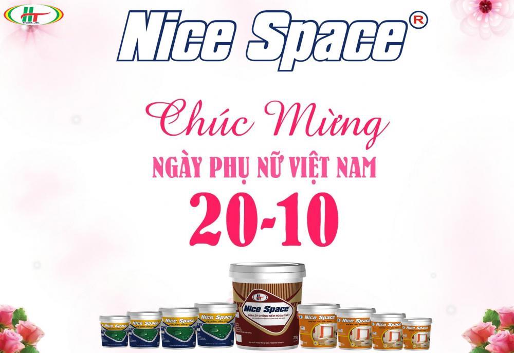 Sơn Nice space Chúc mừng ngày phụ nữ Việt Nam 20/10/2018