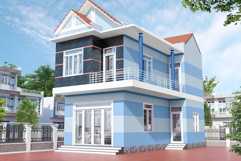 Những màu sơn giúp tô điểm cho nhà 2 tầng đẹp nổi bật