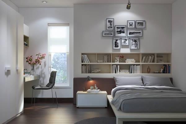 Gợi ý trang trí phòng ngủ màu trung tính đơn giản không kém phần trẻ trung
