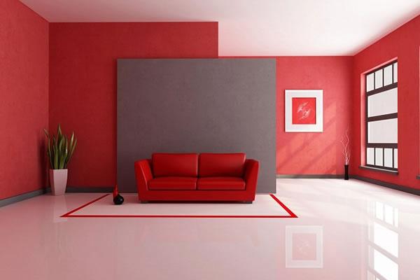 Cách sử dụng màu đỏ hiệu quả trong thiết kế nội thất