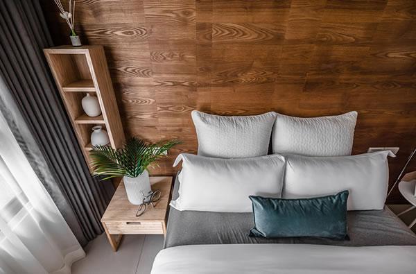 Không gian lý tưởng với sự kết hợp nội thất gỗ sang trọng
